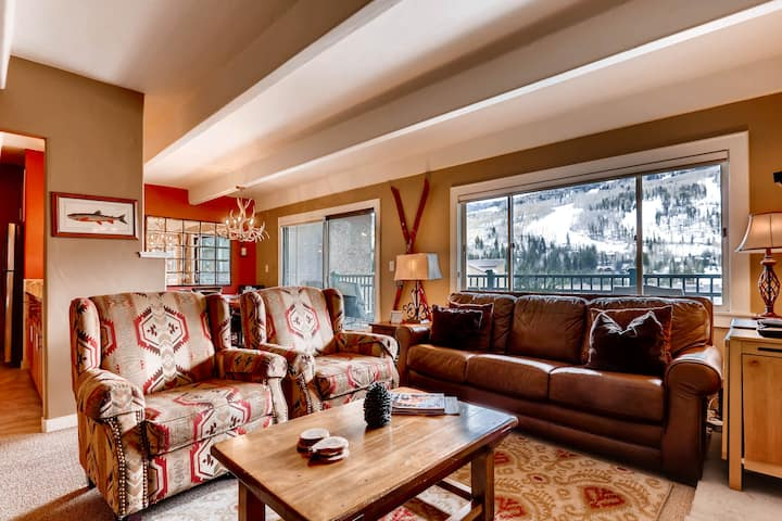 In Heart of Vail Lionshead Village with Mountain View, Hot Tub & Pool | VP410