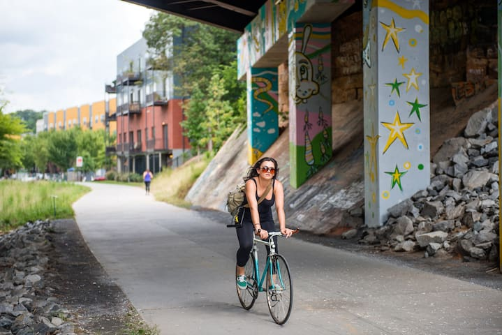 Rent a bike and enjoy a scenic ride on the Beltline trail
