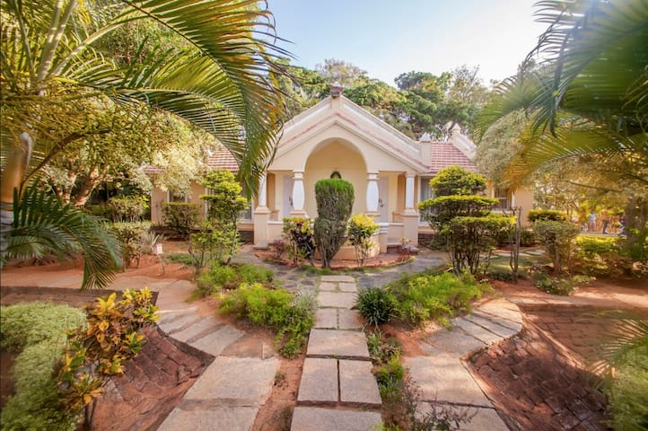 A Classical Architectural Cottage with a Pool