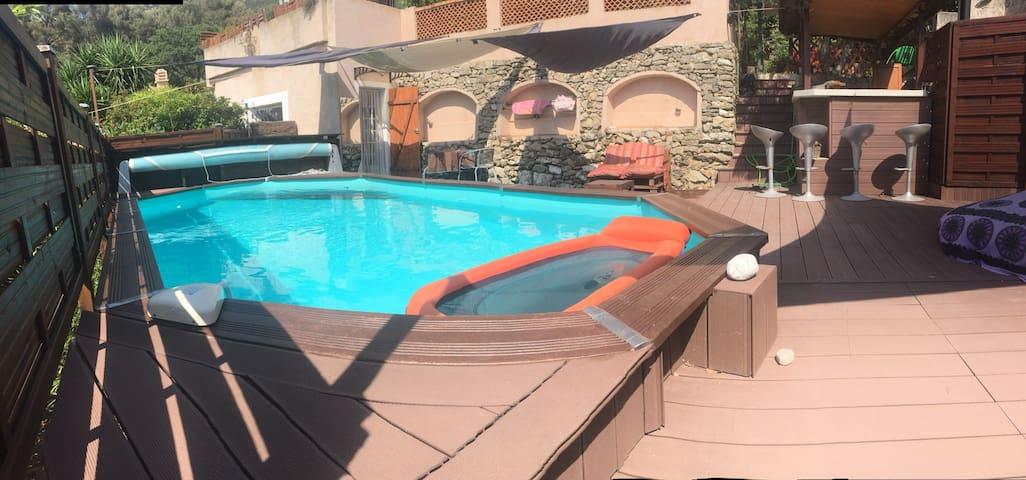 cadre enchanteur piscine au calme sans vis à vis