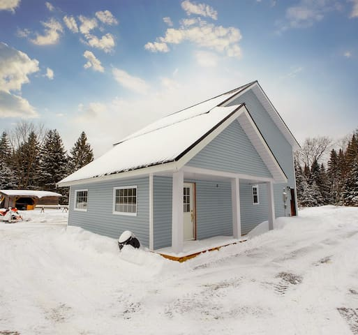 Renovated farm house in a winter wonderland