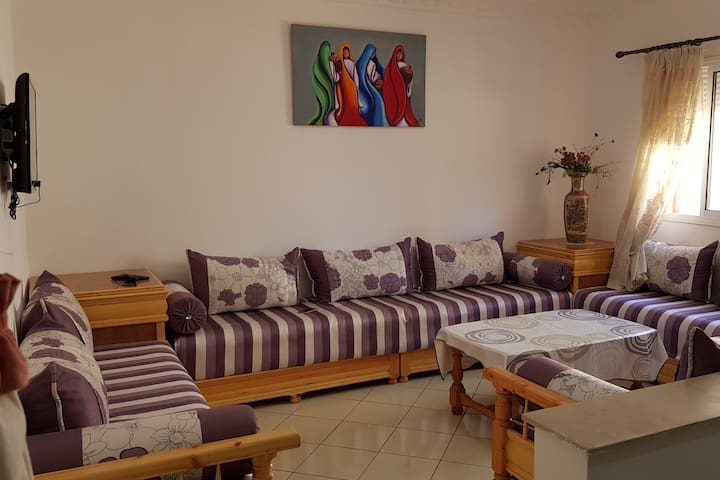 Appartement 70m2, résidence privée et sécurisée