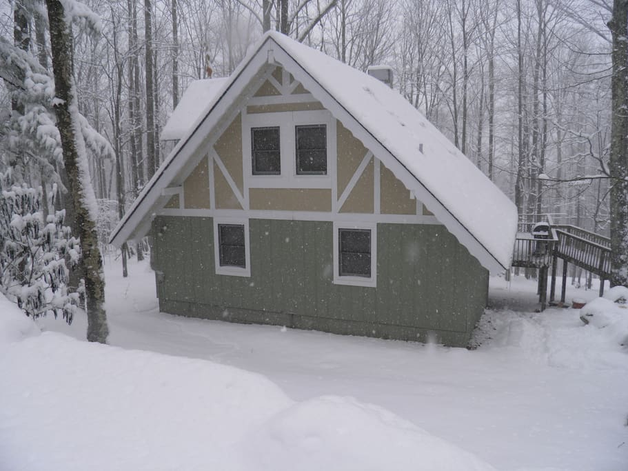 Snow photo made prior to installation of insulated vinyl siding.