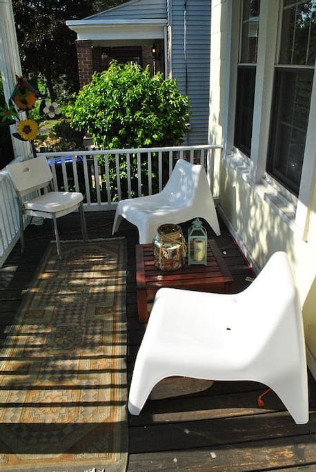 Lovely outdoor seating on the porch