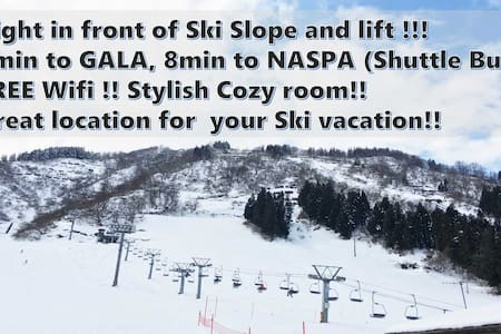 FJ04Right in front of ski sople!2min to GALA!WifI⑤ - Yuzawa-machi - Rumah