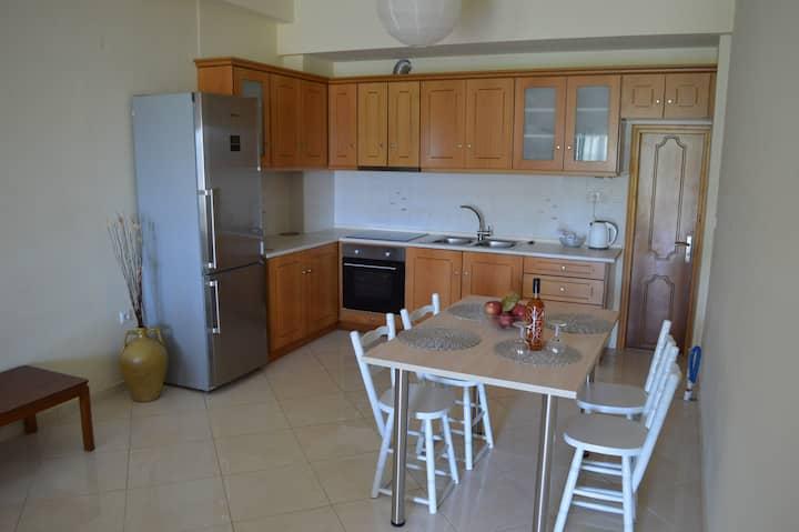 Eutixia's ground floor apartm.Pentati sea-village