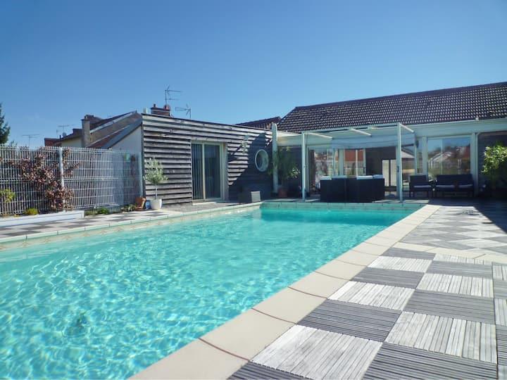 Pool House! Huge garage! City