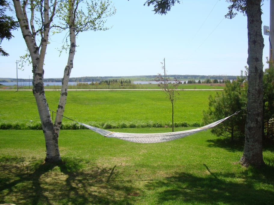 The best place to relax is the hammock in front of the cottage.  Ahhhh !