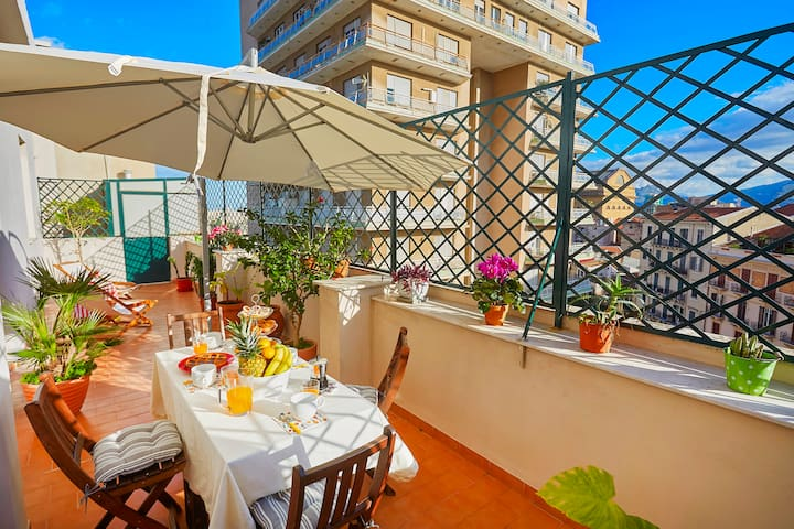 Our stunning terrace with a view of Teatro Massimo