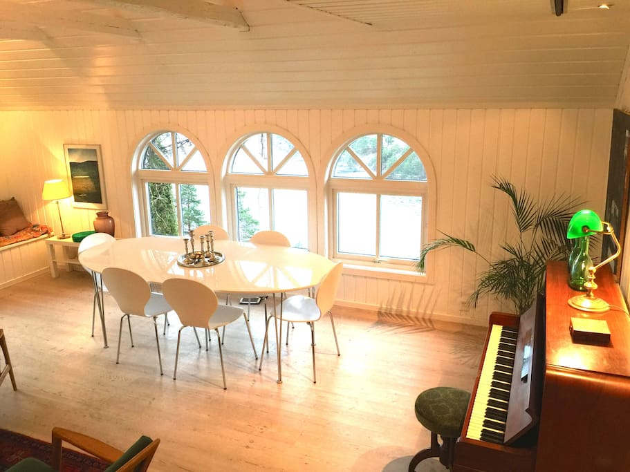 Living room. With piano