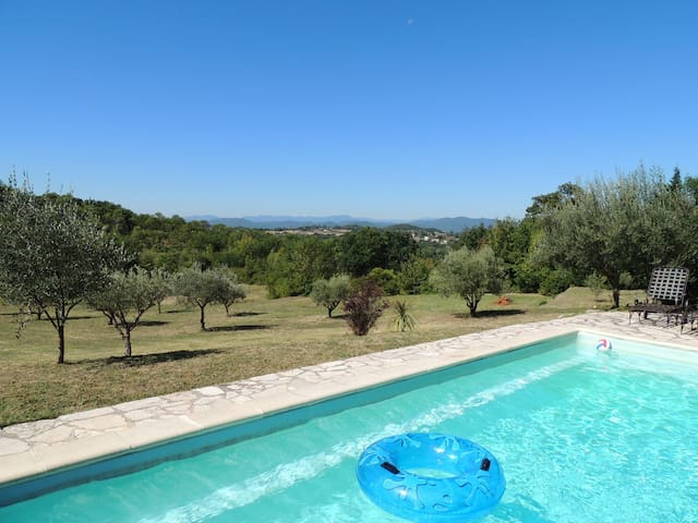 A stone farmhouse with amazing uninterrupted views