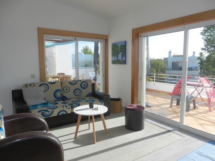 Attique/penthouse grande terrasse, piscine et vue