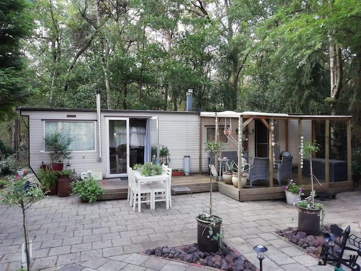 Natuurhuisje met riante tuin aan bosrand
