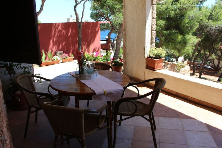 Studio Apartment, 200m from city center, beachfront in Sv. Nedjelja ( Hvar), Terrace