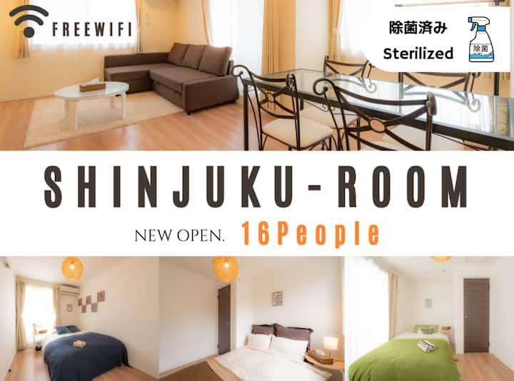 ▼Sterilized▼Shinjuku /16 people▼Wifi/Netflix