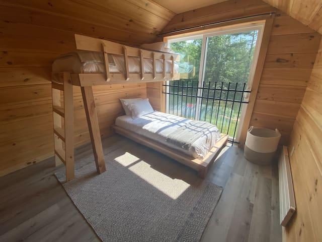 Bunk bed room.