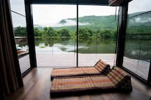 River views from the bedroom.