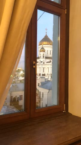 Cozy room with the Kremlin view