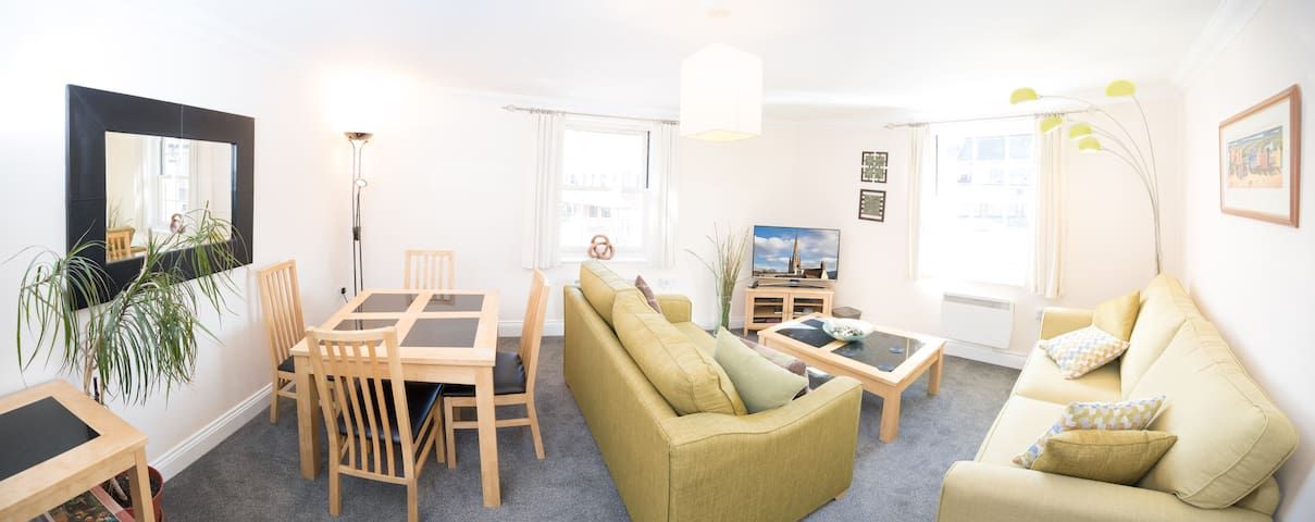 Great 2 bedroom apartment 100m from Cathedral - Norwich - Apartamento