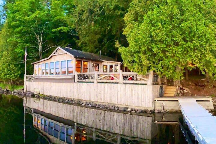 The Boathouse on beautiful Lake Simond