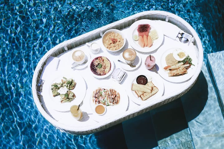 Free Floating Breakfast in Your Private Pool Villa