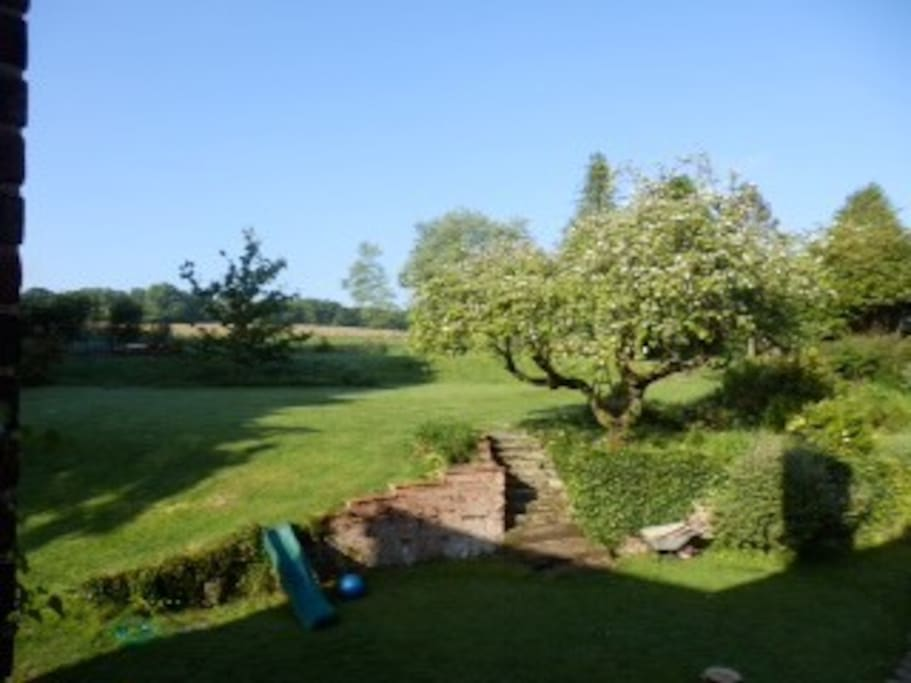 South facing garden view from bedrooms