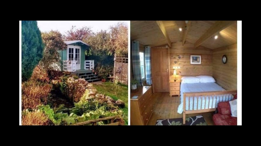 Heated Rural Log Cabin with en suite shower room