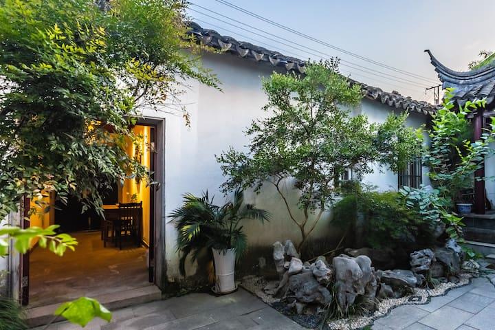 平江路上「摇玲5」苏式庭院的闹中取静可步行至苏博拙政园狮子林观前街藕园