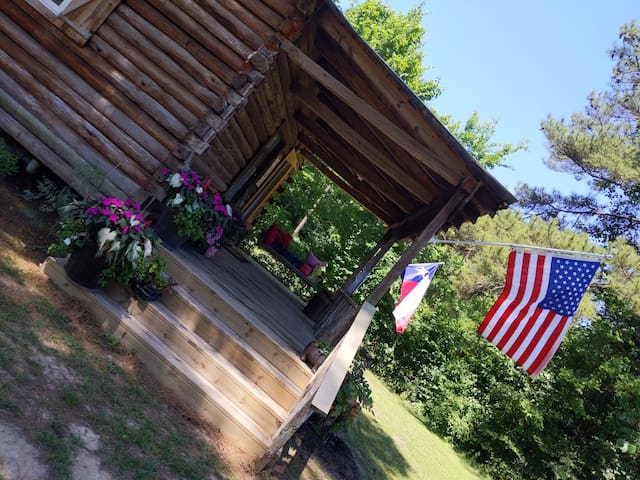 Log Cabin Tiny House on acreage