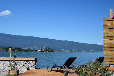 Chambre double dans maison au bord du lac - Talloires-Montmin - วิลล่า