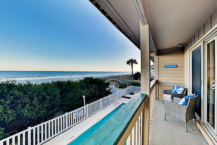 Stylish Oceanfront Getaway | Pool, Steps to Sand