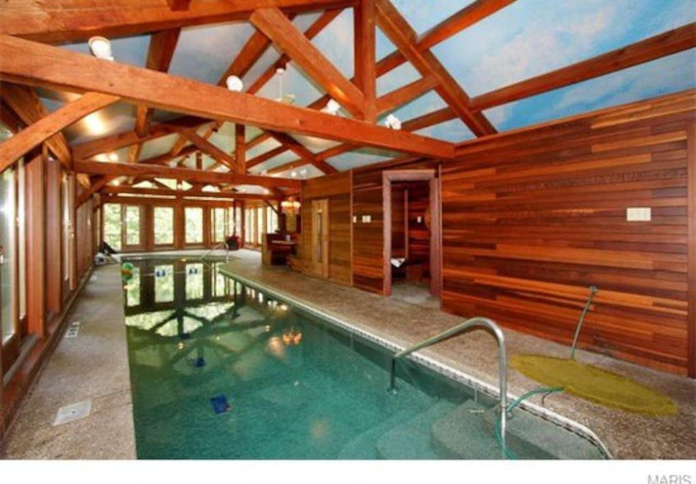 Private Indoor Swimming Pools rambling ranch private indoor pool - houses for rent in ballwin