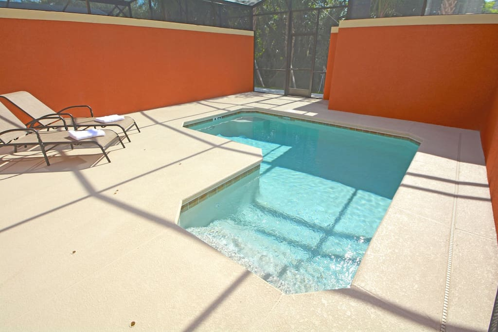 Private splash pool and sun deck