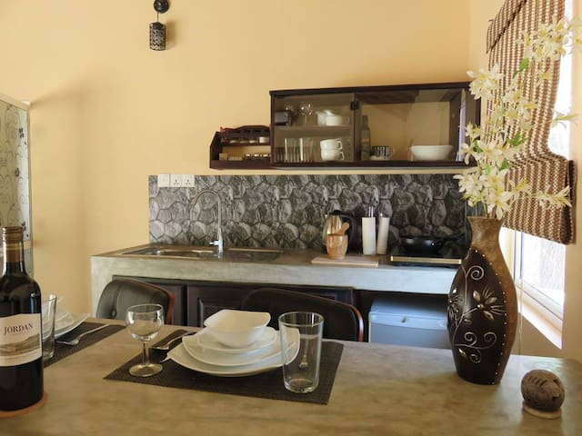 Fully equipped kitchen, if you love cooking!