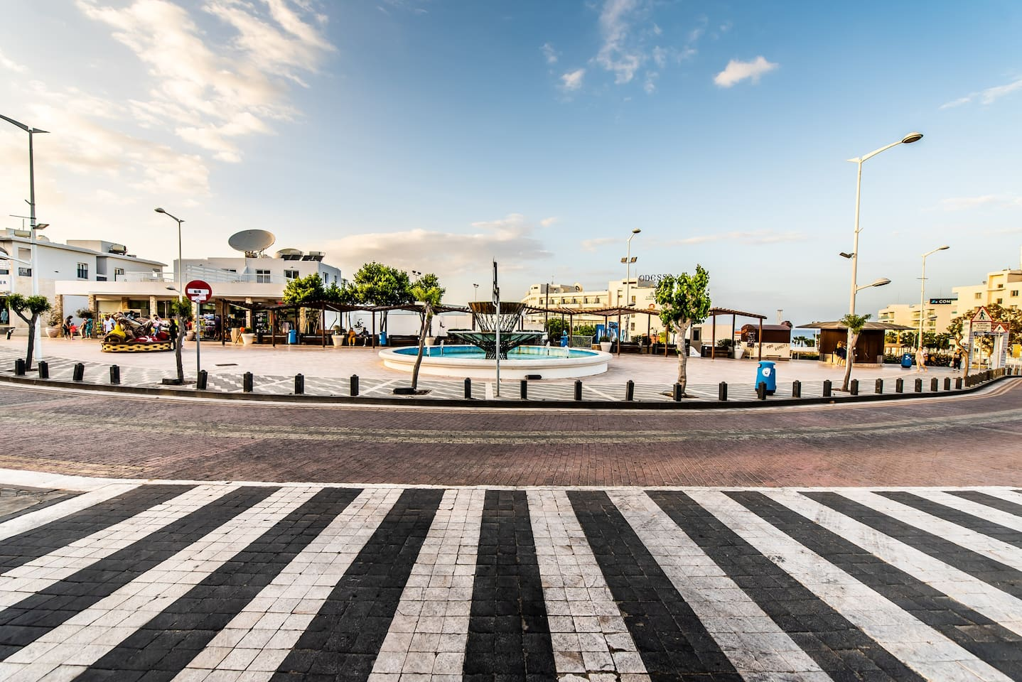 Lefkolla square in Protaras' centre. Only 50 metres away from the apartment!