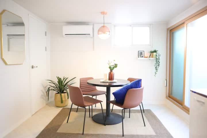 2BR Cozy Loft Apt. with PRIVATE TERRACE in Hongdae
