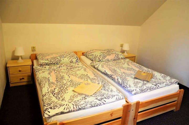 5-7 lůžkové apartmá v penzionu Eder 63 m2