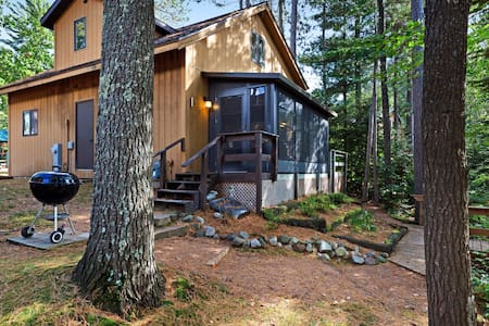 Family-friendly lakefront cabin with private dock and one of kind views