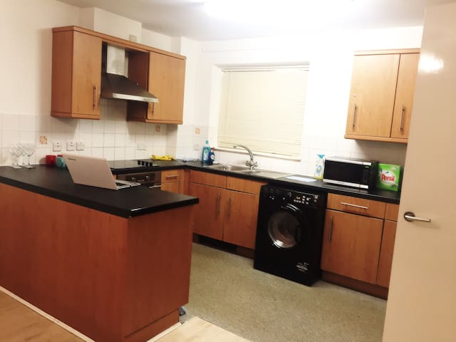 Kitchen area equipped with all amenities if it's not there just ask !