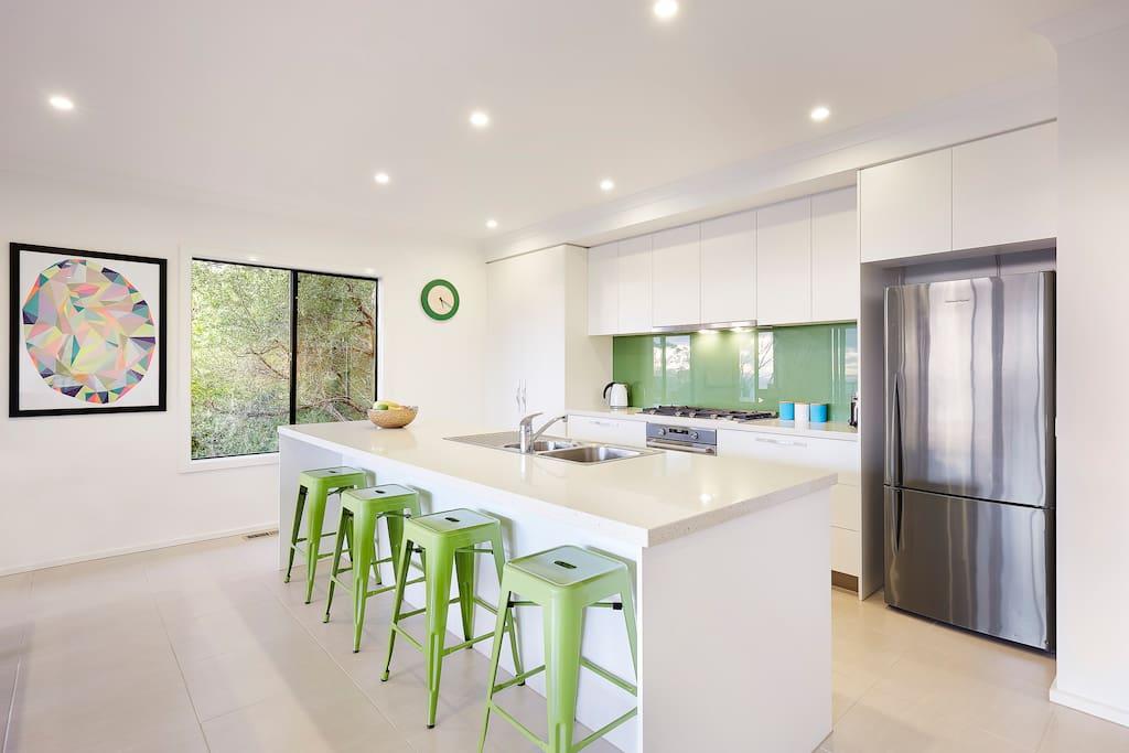 Spacious open plan kitchen
