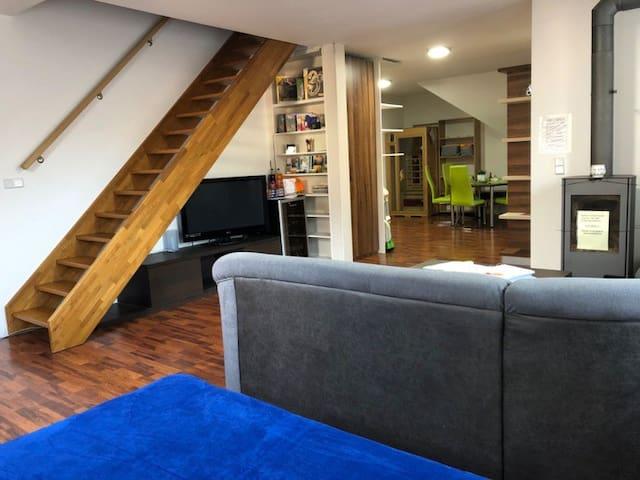 Ubytování Zlín Ořechový apartmán s infasaunou