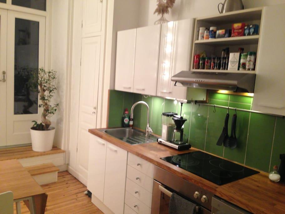 Kitchen, door to patio