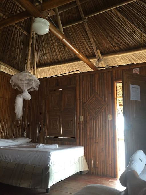 Inside the bungalow