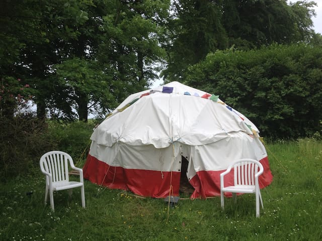 Geodesic Dome tent on the Cotswold Way, with stove - Gloucestershire