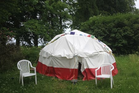 Geodesic Dome tent on the Cotswold Way, with stove - Gloucestershire - Jurta