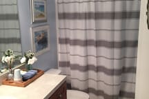 A beautiful private bathroom for your ease and comfort