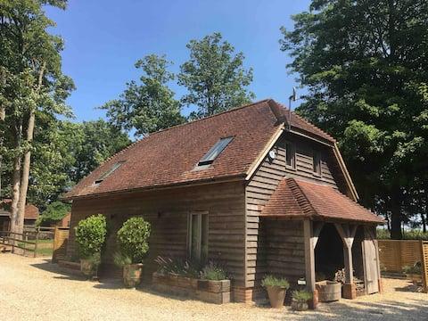 Oak Framed Barn with Tennis  Court