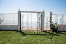 Private entrance to beach