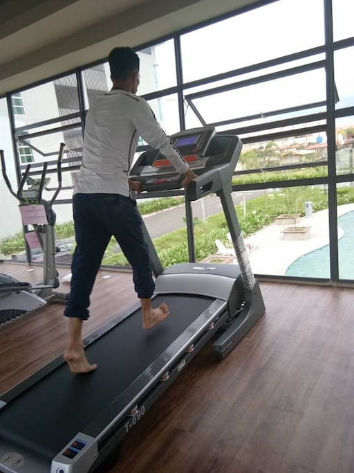 gym , sauna & swimming pool at clubhouse