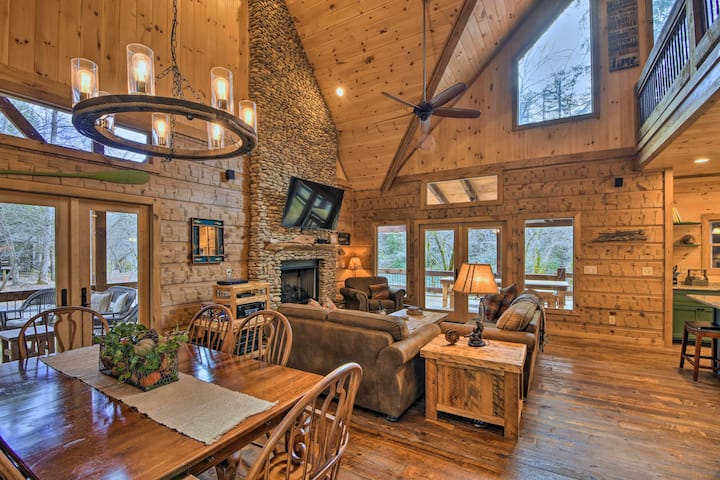 'Trout-N-About' Riverfront Cabin w/ Furnished Deck